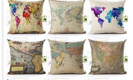 Map pillowcase nz buy new map pillowcase online from best sellers 18 inches vintage style cushion cover world map pattern cotton linen pillow cover cushion cover pillowcase home decor gumiabroncs Images