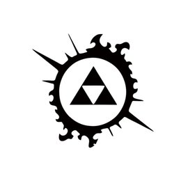 $enCountryForm.capitalKeyWord Canada - Cool Graphics Legend Of Zelda Triforce Splash Car Sticker For Truck Window Bumper Auto Suv Door Car Stying Decorative Art Decal