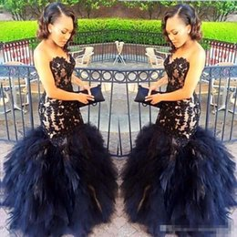 High Neck Sweetheart Dresses Celebrities Canada - 2017 Puffy Tulle Tiered Long Evening Dress Sweetheart Appliques Zipper Backless Gorgeous Celebrity Dresses Sexy Fashion Mermaid Prom Dresses