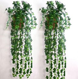 Discount green decor vines - Delicate Artificial Ivy Leaf Garland Plants Vine Fake Foliage Flowers Home Decor 2.5m Beatiful Party Supplies G694