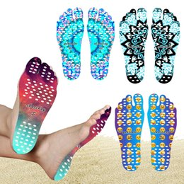 Plantillas Para Calzado Baratos-Emoji Feet Sticker Smile Face Beach Plantillas antideslizantes Mandala Nakefit Calzado adhesivo Calor Insulation Suelas impermeables Stick on Pads