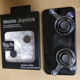 gaming controller for mobile 2018 - Fling mini Mobile Joystick Mini Game Rocker Touch Screen Joypad Dual analog joysticks Smart Clip Controller for samrtpho