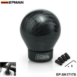 $enCountryForm.capitalKeyWord Canada - EPMAN- Real Carbon Fiber Aluminum Gear Snob Manual Transmission Aluminum Gear Shift Knob For Honda VW BMW EP-SK1717S