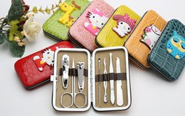 Ensemble De Clous À Ongles Pas Cher-Creative Cartoon Inox Clipper Nipper Cutter Pédicure Nails manucure ensemble Kit Case pour Wome Girl