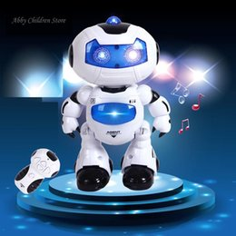 $enCountryForm.capitalKeyWord NZ - RC Robot Toy Remote Control Musical Electronic Toy Walk Dance Lightenning Robot Christmas Birthday Gift Toy For Child Kid Boy