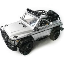 Flash Drive Battery NZ - Wholesale-New High Quality HG P402 1 10 2.4G 4WD Wheel Drive Roadster Climbing Car