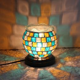 $enCountryForm.capitalKeyWord NZ - Mediterranean mosaic bedroom bedside lamp lampColor glass decorative lamp light fragrance oil creative