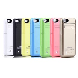 Chinese  2200mah smart phone battery case for iphone 5 5S portable usb power bank external backup battery charger case colorful stand case BAC015 manufacturers