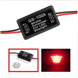 Discount car strobe light controller - GS-100A 12--24V Flash Strobe Controller Flasher Module for LED Flashing Back Rear Brake Stop Light Lamp Car Accessories