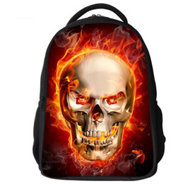 a083e4b36745 Fashion Boys Man s 3d animal backpacks Cool Wolf skull ourdoor sports  travel bags school bag rucksacks