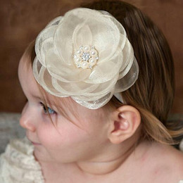 $enCountryForm.capitalKeyWord Canada - Hot Sale Hair Accessories For Infant Baby Lace Big Flower Pearl Princess Babies Girl Hair Band Headband Baby's Head Band Kids Hairwear CK487