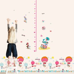 Wholesale 7Styles Growth Chart Height Measure Chart Wall Stickers For Kids Room Decor Cartoon Mural Art Home Decals Children Gift