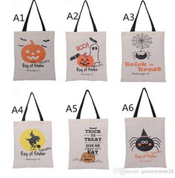 $enCountryForm.capitalKeyWord Canada - 2017 New Halloween Bag with Black Handle 6 color for Women Girl Pumpkin Shopping Tote Bags Festival Gifts Bag 36X48CM