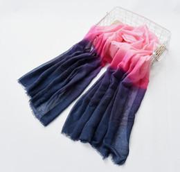 White Pashmina Cotton Canada - New Arrival 2018 Winter Scarves Women shawl pashmina Gradual Scarfs Foulard Cotton shawls Scarf wrap 180*80cm 93