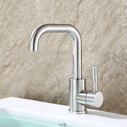 Discount Brushed Stainless Steel Bathroom Faucets Brushed - Brushed stainless steel bathroom faucet