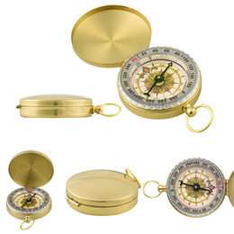Car Positioning Canada - G50 Military Prismatic Sighting Pocket Watch Type Compass Copper Folding Compasses Basic Positioning Outdoor Location Map Pointing Guide