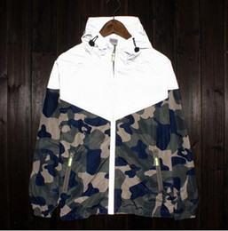 Bape camo jacket online shopping - New Mens sport skateboard reflect light  outdoor camouflage jackets Stand 485e1d79f