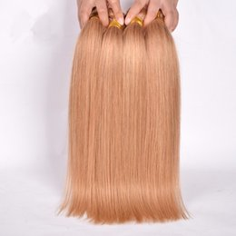 $enCountryForm.capitalKeyWord Australia - #27 Honey Blonde Virgin Brazillian Remy Straight Hair 3 Bundles Honey Blond Brazilian Hair Unprocessed Blonde Virgin human Hair Weave