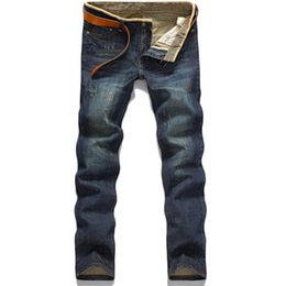 Wholesale-Classic Hot Sale Stright Cotton Fashion Comfortable Washed MensJeans on Sale