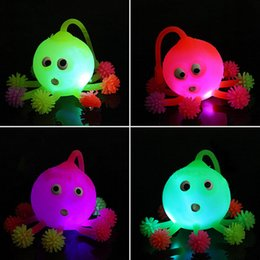 wholesale novelty led luminous light up ball inflatable octopus toys for parent child kid children interaction toy gifts random color - Halloween Novelties Wholesale