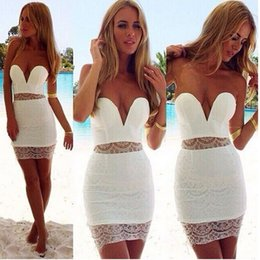 4f64e5e37fe3d Sexy bra sleeveless halter dress lace stitching black white club club party  dress