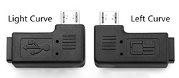 L shape cabLe online shopping - Mini USB Female to Micro USB Male L Shape Black Adapter Charger Connector Converter Adaptor