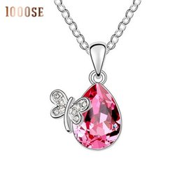 Wholesale 2017 new A genuine high grade pendant using SWAROVSKI Elements Crystal Necklace Miss butterfly small commodities sale