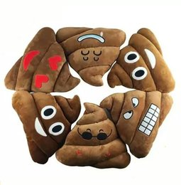 Plush Toys Specials Canada - New Large Emoji Poop Shaped Stuffed Pillow Cushion 35CM Emoji Smiley Face Pillow Sofa Chair Cushion Funny Plush Doll Toy Special Gifts