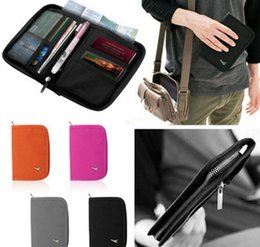Discount travel passport pouch wholesale - Travel Passport Cover Wallet travel bags Pouch Money Bags Storage Travel Package Passport Case Handbag 4 color KKA2036