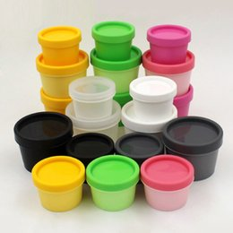 Personal candy online shopping - 50G Candy Color Plastic Cosmetic Mask Cream Jars With Plastic Liner Cosmetic Cream Pot Containe Makeup Eye Shadow Nail Powder Jewelry Bottle