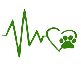 $enCountryForm.capitalKeyWord Canada - Heart Beat Paw Dog Cat Pet Lover Animal Art Car Sticker for Truck SUV Bumper Motorcycles Laptop Car Covers Vinyl Decal JDM