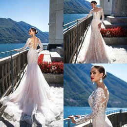 a8c68cf8a06 Off white lace beach wedding dress online shopping - Beach Milla Nova New Fashion  Mermaid Wedding