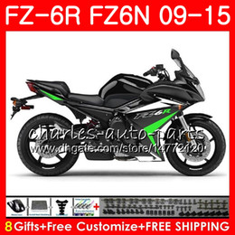 Glossy black Body For YAMAHA FZ6N FZ6 R FZ-6N FZ6R 09 10 11 12 13 14 15 82NO19 FZ-6R FZ 6N FZ 6R 2009 2010 2011 2012 2013 2014 2015 Fairing from white abs thunderace manufacturers