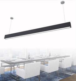 $enCountryForm.capitalKeyWord Canada - 118cm office LED aluminum rectangular pendant light ceiling modern silver led chandelier lamp fixture for dining room restaurant office LLFA