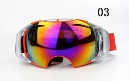 Girls Ski Goggles Canada - Fashion AIRBRAKES ski goggles Mountaineering goggles Super toughness Double spherical surface anti-fog goggles 9 Colors Unisex Sunglasses