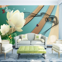 $enCountryForm.capitalKeyWord Canada - Customized 3d Wallpapers for Living Room Beautiful Holy White Lotus Leaf Pond Personality TV Background Wall 3d Mural Wallpaper