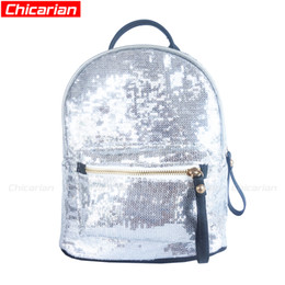 Chicarian New Fashion Kid Girl Paillette Backpack Designer Kids Boy  Backpacks Children s Bags Girls Punk Bag Stylish Baby Products CA042 bc9483d155e33
