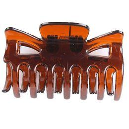 venda por atacado Atacado-Mulheres Único Unilateral Sete Dentes Grampos de Cabelo Garra Hairpin Fit Barrettes Artesanato (grande 6pcs / pequeno 10 unidades por pacote) 2 tamanho 2016