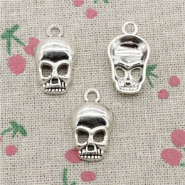 $enCountryForm.capitalKeyWord NZ - 60pcs Charms Antique Silver skull skeleton 25*15mm Pendant Zinc Alloy Pendant DIY Makeing Jewelry Bracelet Necklace Fittings