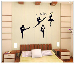 $enCountryForm.capitalKeyWord Canada - Wall Stickers Home Decor DIY Ballet Girl Dancing Wall Decals Music Dance Classroom Decoration Art Wall Post
