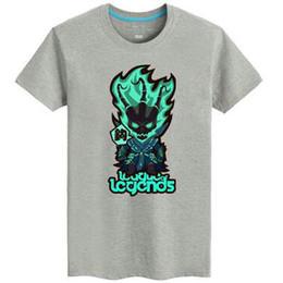 593678ddbfcaf Thresh T shirt The Chain Warden short sleeve League of Legends tees Lol  game clothing Men cotton Tshirt