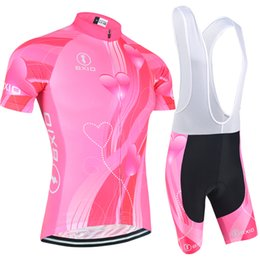 $enCountryForm.capitalKeyWord Canada - BXIO New Arrival Female Cycling Jersey Love Pattern Summer Bikes Clothing Short Sleeve Cycle Jerseys Brand Unique Design Cycling Set BX-123