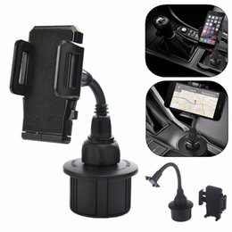 Wholesale- 360 Degree Adjustable Universal Cup Socket Holder Car Mount Stand Cradle for Phone MP3 GPS Cars Mounts Flexible Phone Holder