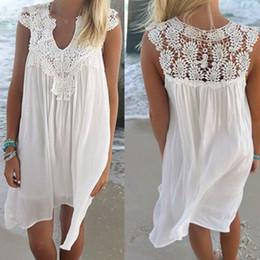10PCS Plus Size Beach Cover ups Women Summer Hollow Out Lace Bikini Swim  Bathing Suit Loose Chiffon Beach Dress 2XL ZL3048 5624f953f