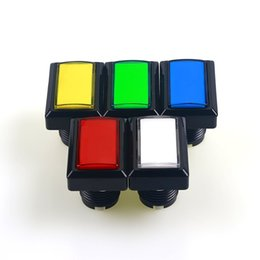 China LED Illuminated Rectangular Push Button 50mm*33mm Rectangular Arcade LED Lighted Push Buttons with Microswitches for Mame Cabinet suppliers
