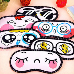 Masque De Dessins Pas Cher-Cartoon Sleeping Eye Mask Lovely Nap Soins des yeux Shade Blindfold Sleep Mask Eyes Cover Sleeping Travel Rest Relaxing Aid Tools