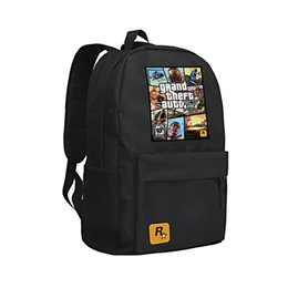 ccdbae1b2e Pc Games Girls UK - 2016 GTA5 GTA PC Games Mochilas School Kids Backpack  For Teenagers
