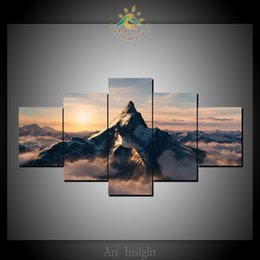 $enCountryForm.capitalKeyWord Australia - 5 Pcs Set Paramount Mountain Modern Wall Art Pictures HD Printed Canvas Painting Modular Pictures HD Paints Home Decoration