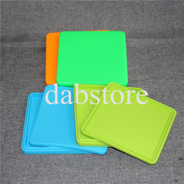 $enCountryForm.capitalKeyWord Australia - Large Flat Containers Big Silicone Rubber Silicon Storage box Square Shape Wax Jars Dab Concentrate Tool Dabber Oil Holder for Vape Dry Herb