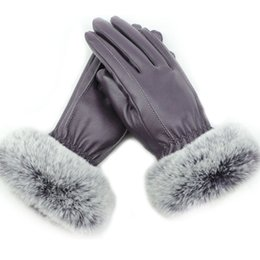 $enCountryForm.capitalKeyWord Canada - Womens Winter Touchscreen High Quality PU Leather Gloves Soft Thermal Plush Lining Mittens Versatile Cold Weather Thicken Gloves